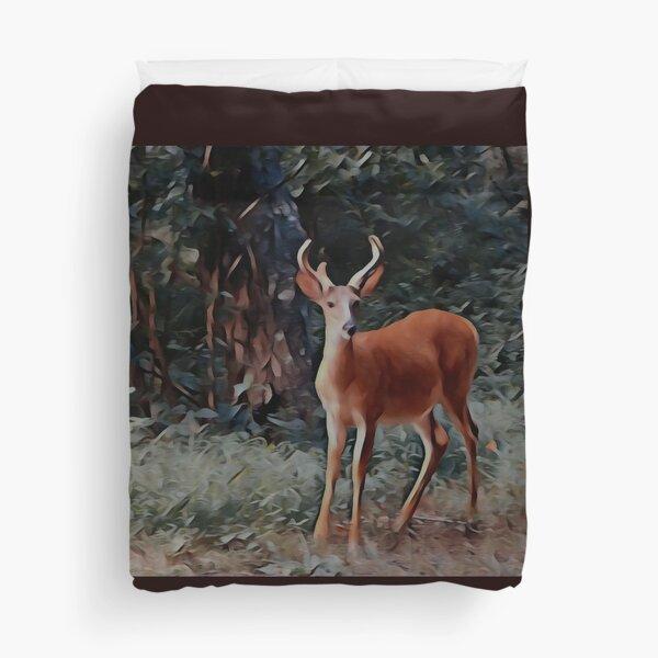 The yearling Buck Deer Duvet Cover