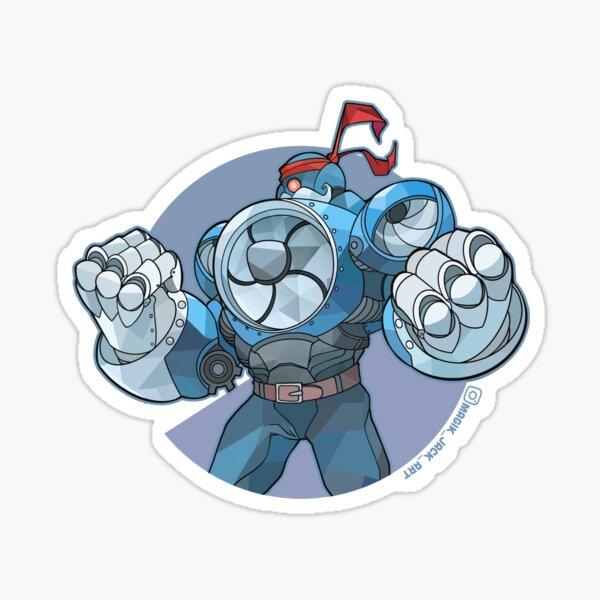 Bubble Punch Mech Sticker