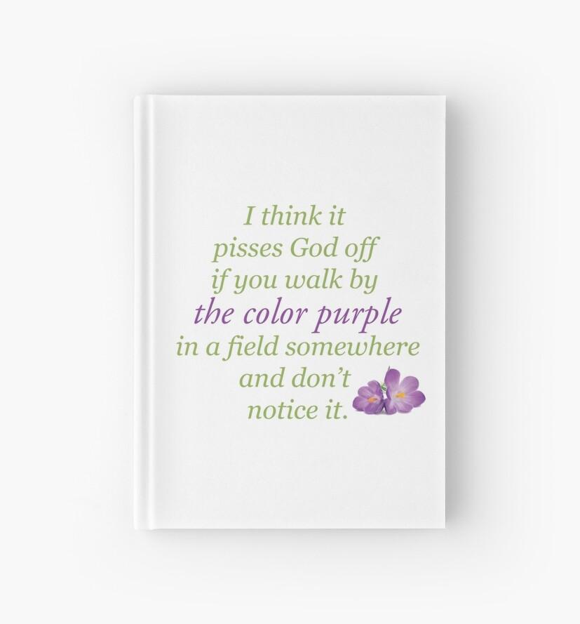 Cuadernos de tapa dura «El color morado» de Sam-Smith | Redbubble
