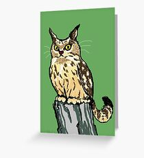 Cat-Owl Scowl Greeting Card