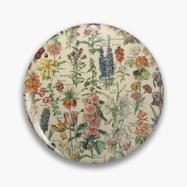 Vintage Flower Poster Pin