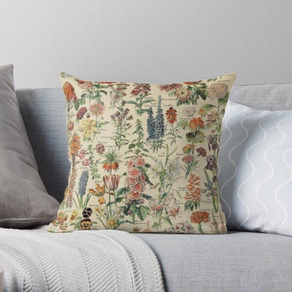 Vintage Flower Poster Throw Pillow