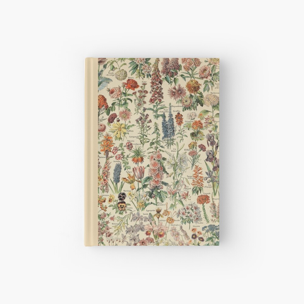 Vintage Flower Poster Hardcover Journal