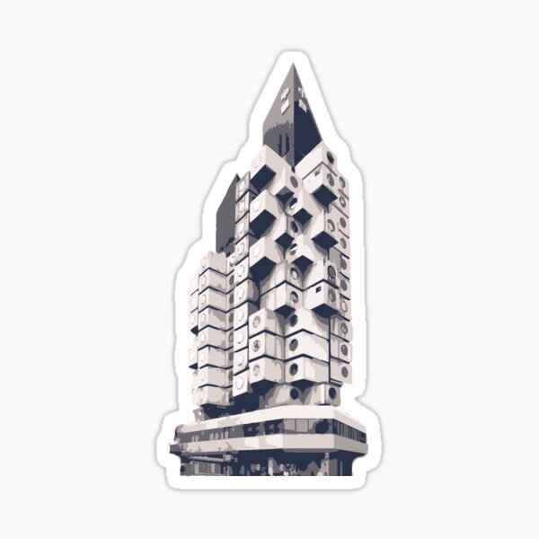 Tokyo - Nakagin Capsule Tower minimal, Japan Sticker