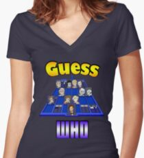 Guess Who Women's Fitted V-Neck T-Shirt