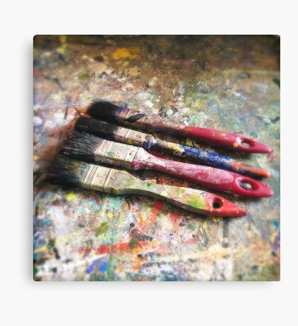 Four Paintbrushes Canvas Print