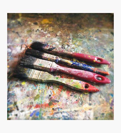 Four Paintbrushes Photographic Print