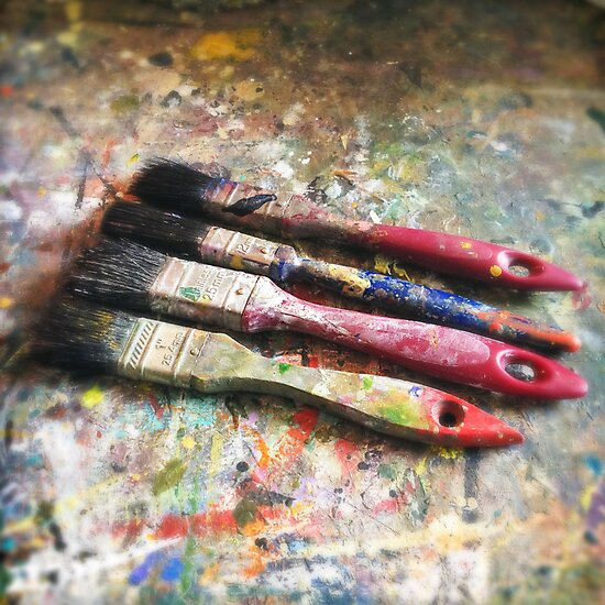 Four Paintbrushes by eyeshoot