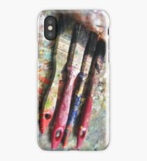 Four Paintbrushes iPhone Case/Skin
