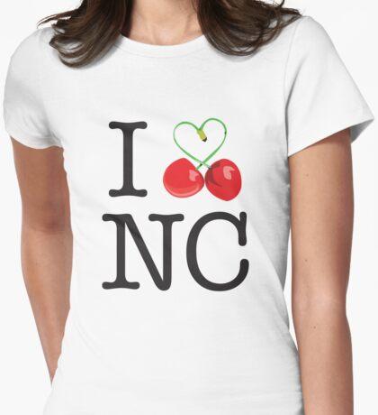 I 'Love' Newcastle (Cherry) white T-Shirt