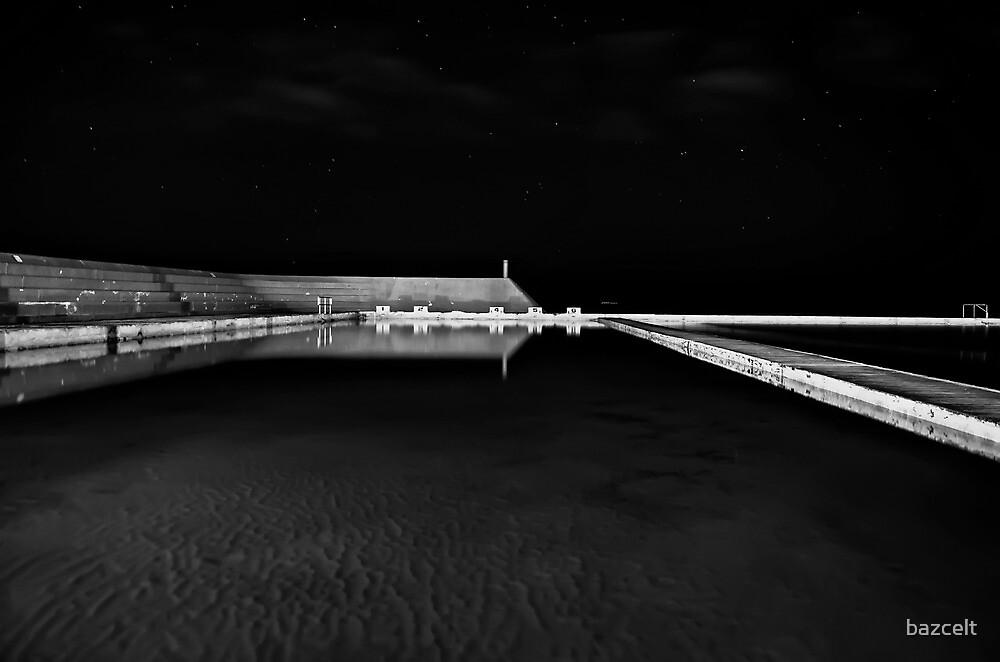 Newcastle Ocean Baths at Night, mono by bazcelt