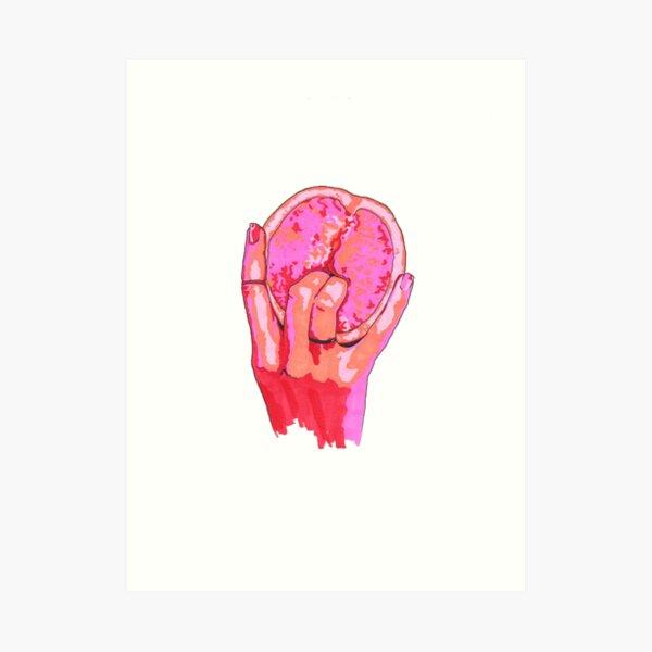 Vulva Grapefruit  Art Print