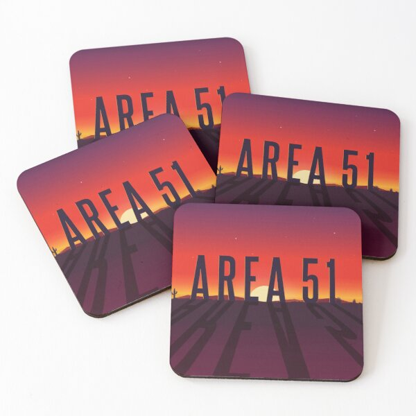 """Area 51: Interceptor"" Comic Book Logo Coasters (Set of 4)"