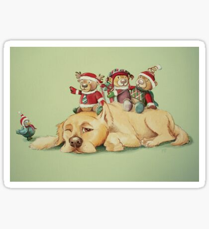 Beary Christmas Sticker
