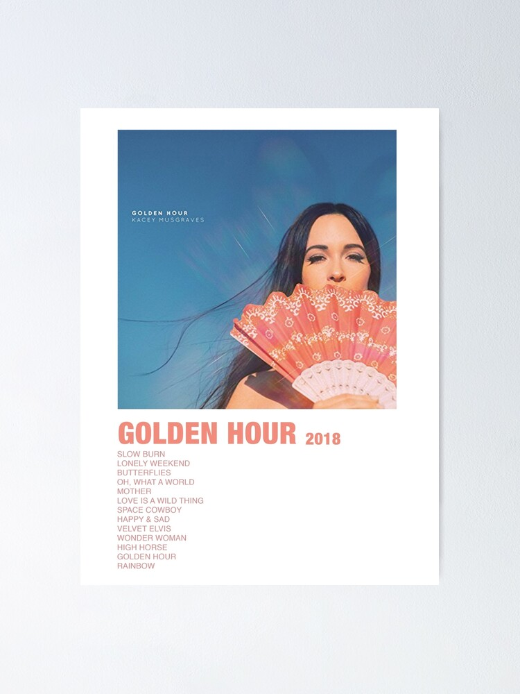 Alternate view of golden hour setlist Poster