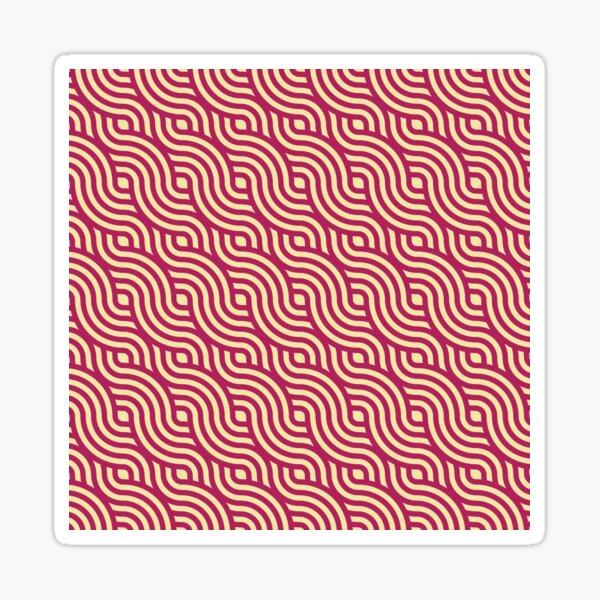 Curvy Seamless Pattern Sticker