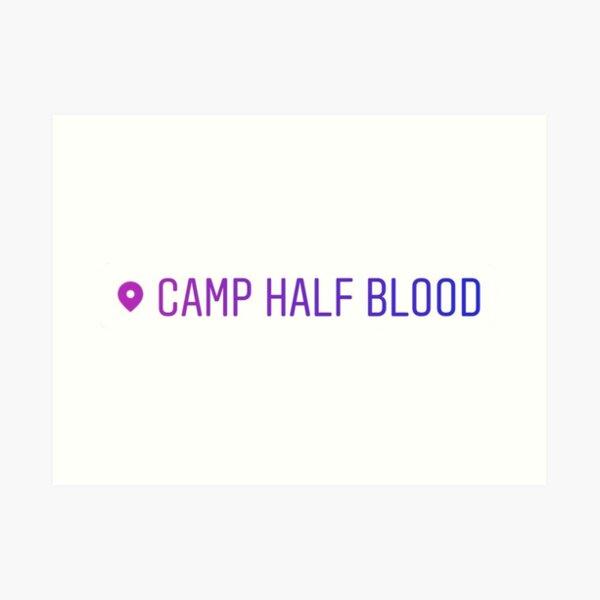 Etiqueta de ubicación del campamento de sangre media Lámina artística