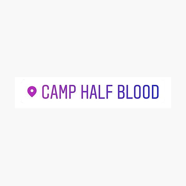 Camp Half Blood Location Tag Photographic Print