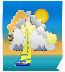 Sailing-Vector Image Poster