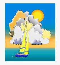 Sailing-Vector Image Photographic Print