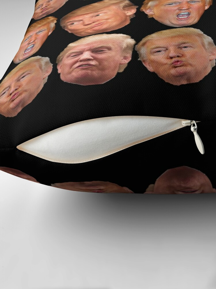 Alternate view of 4 pack stickers Trump Heads Throw Pillow