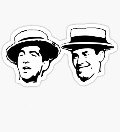 martin and lewis Sticker