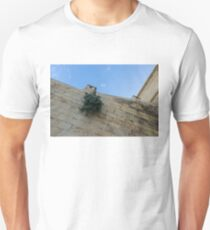 Life on Bare Rock - Up on the Citadel Wall in Victoria, Gozo Unisex T-Shirt