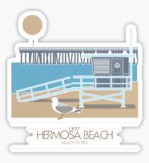Beach Cities. Hermosa Beach Sticker