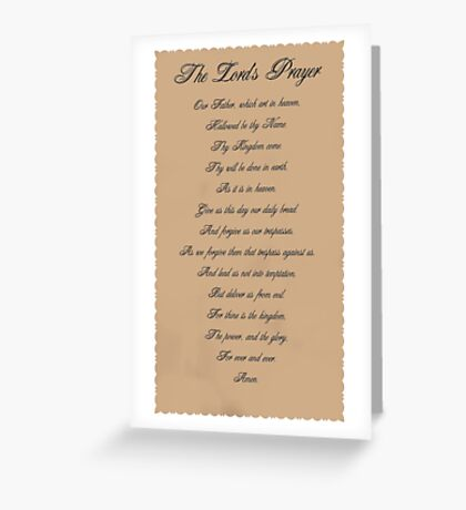 The Lord's Prayer Greeting Card