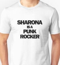 Sharona is a Punk Rocker Unisex T-Shirt