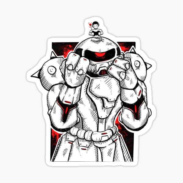 Zaku Gundam Sticker
