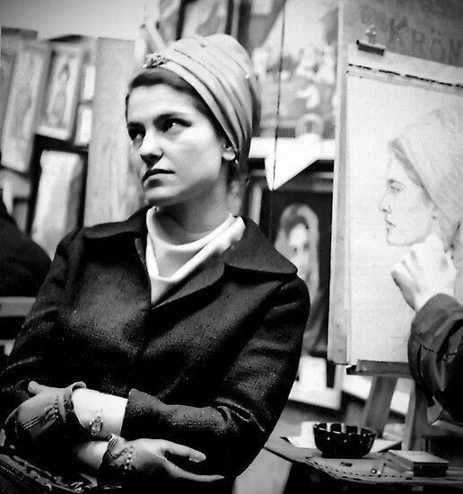 Greenwich Village Mona Lisa by Rick Gold
