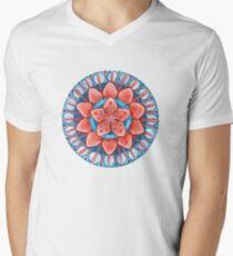 Frosted Cherry Blossom Men's V-Neck T-Shirt