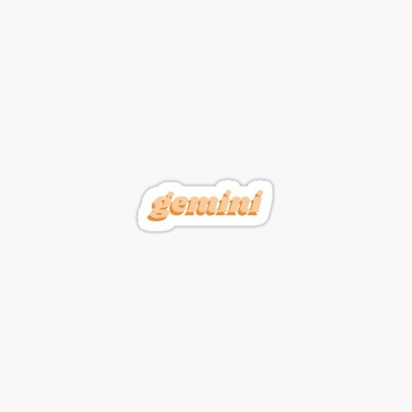 gemini lettering Sticker