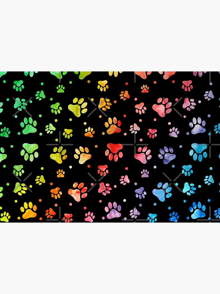 Paw Watercolor Colorful by graphicmeyou