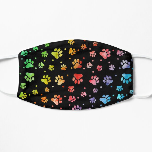 Paw Watercolor Colorful Flat Mask