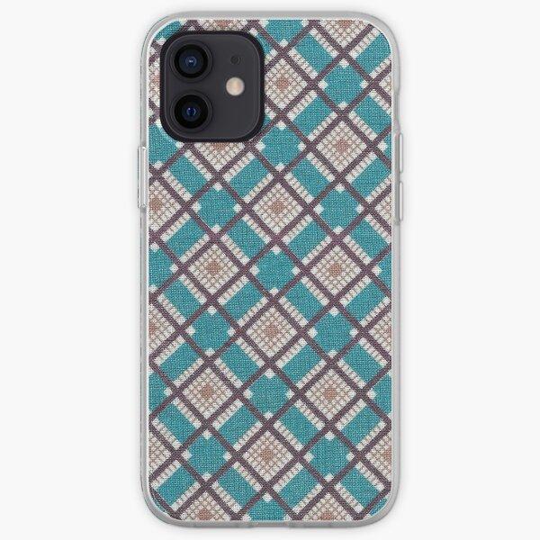 Vintage Mid-century Modern Fabric / Diamonds iPhone Soft Case