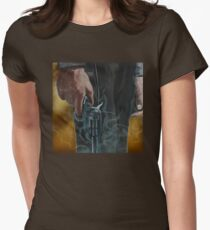 Gunfighter, oil on canvas Women's Fitted T-Shirt