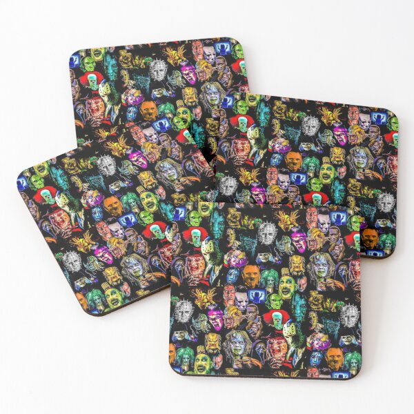 horror collection  Coasters (Set of 4)