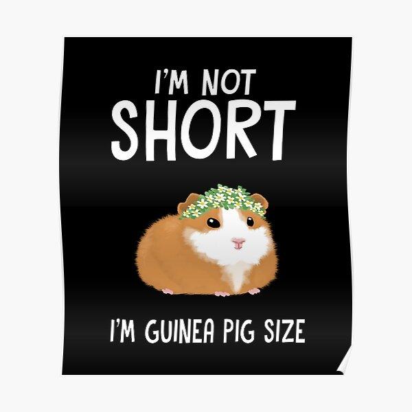 I'm not short I'm Guinea pig size Poster