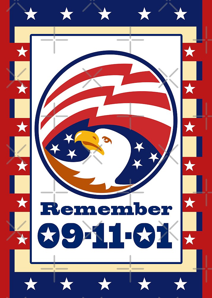 American Eagle Patriot Day 911  Poster Greeting Card by patrimonio