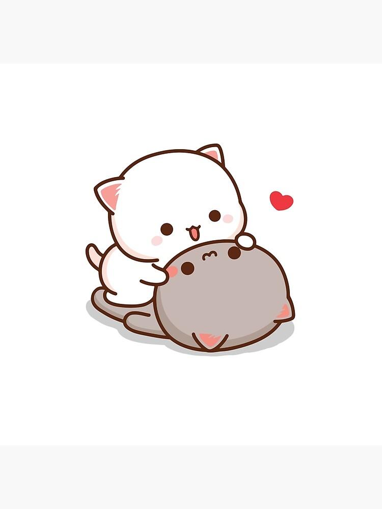 Peach and Goma Mochi Cat Love by misoshop