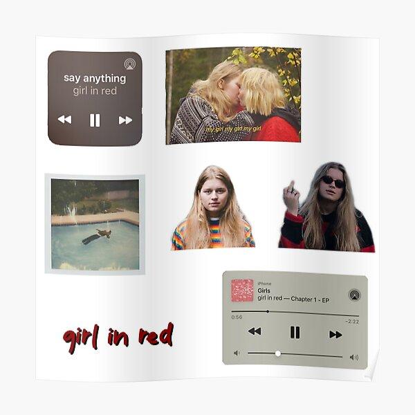 fille en rouge Poster