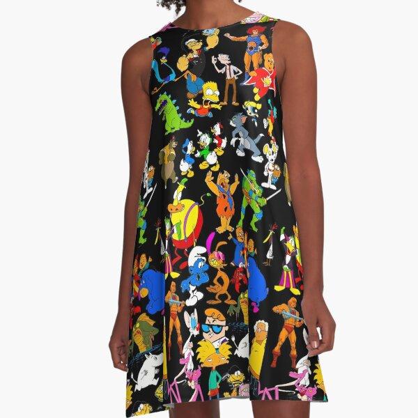 cartoon nostalgia A-Line Dress