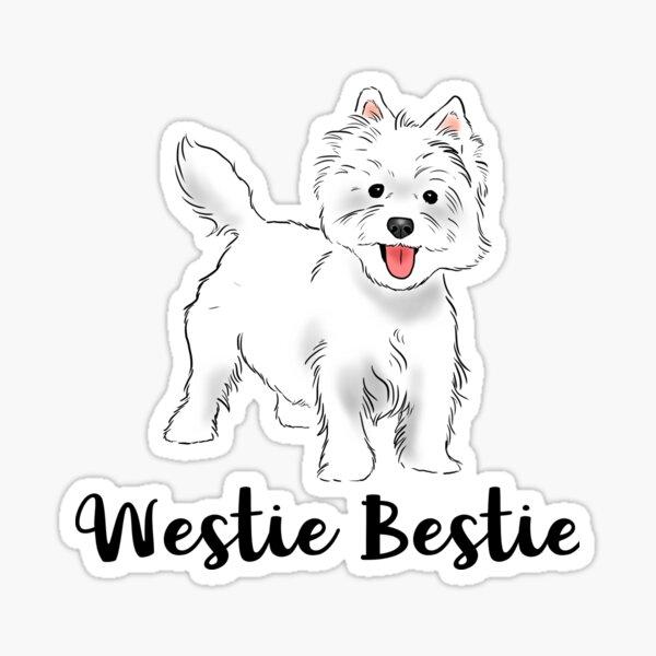 Westie Bestie, West Highland White Terrier, Cute Westie Sticker