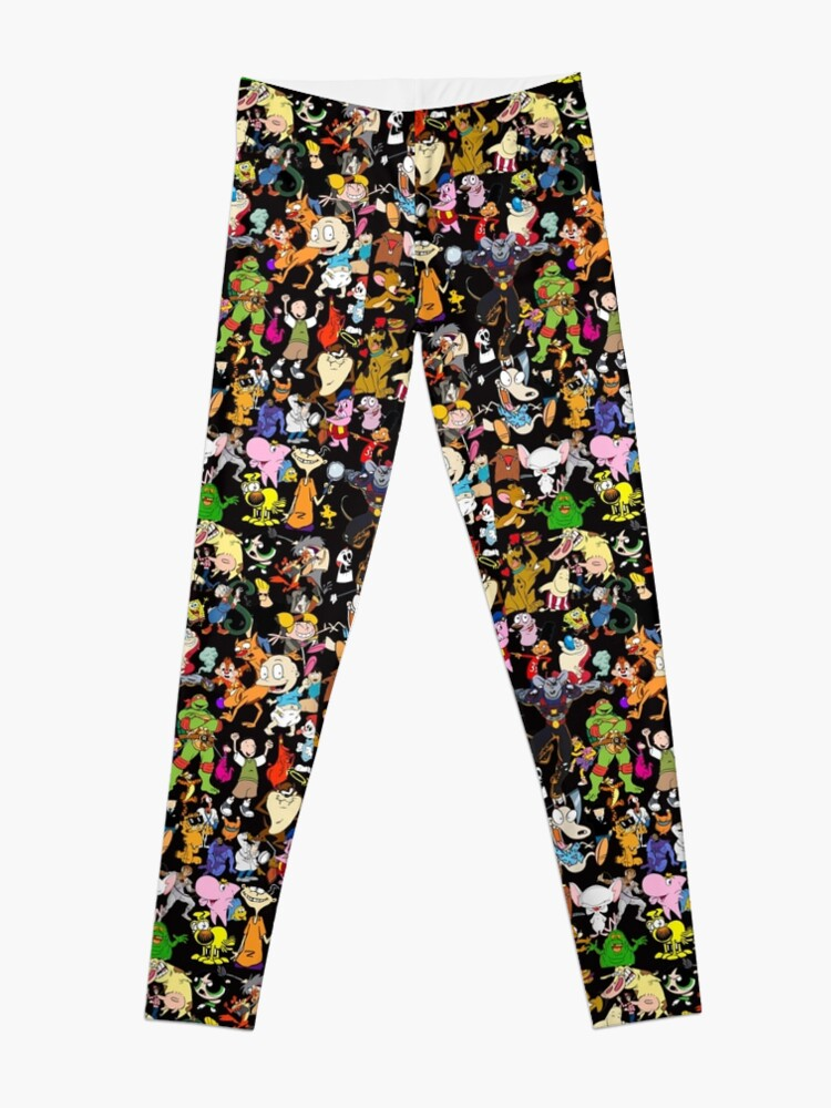 Alternate view of Retro Cartoons phone cases rugrats 80s 90s tv show cartoon Leggings