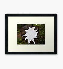 Tagging pics Framed Print