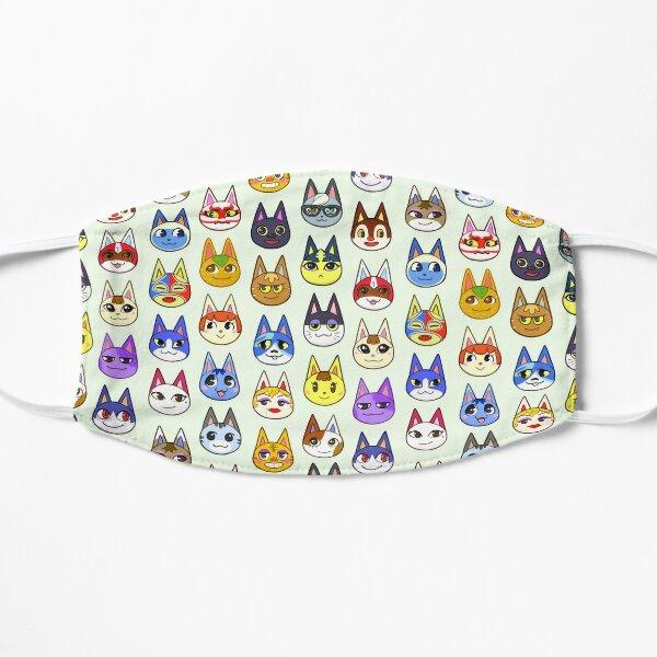 Animal Crossing Cats Flat Mask
