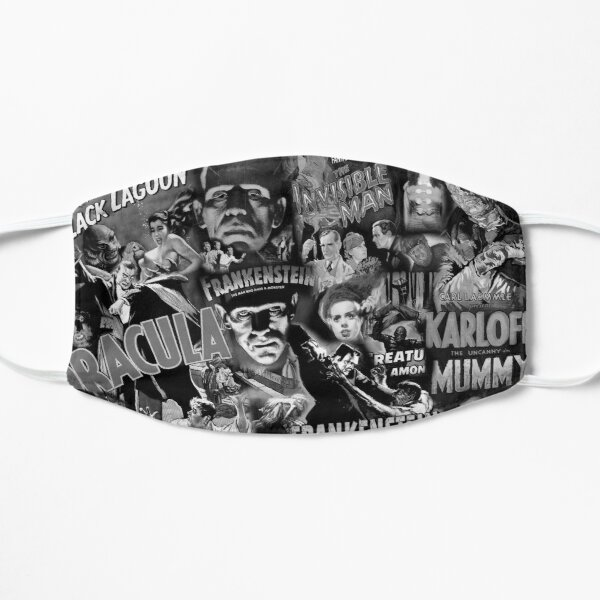 Monster Movies - Black and White Flat Mask