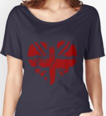 Brit At Heart (Red) Women's Relaxed Fit T-Shirt